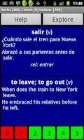 Screenshot of Spanish Basic Vocabulary