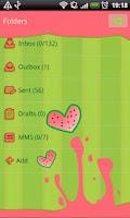 Screenshot of GO SMS Watermelon Heart Theme