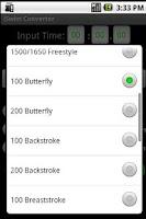 Screenshot of iSwim Converter