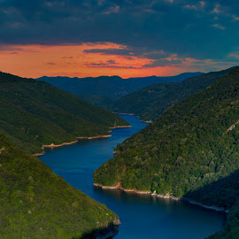 Nestos by Stratos Lales - Landscapes Travel ( clouds, water, hills, river )
