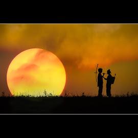 The Love by Vu Khoa - Wedding Other ( love, sunset, couple, light, sun )
