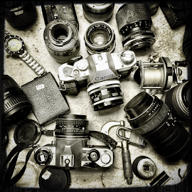 Silent Past by Thomas Polk - Instagram & Mobile iPhone ( lenses, black & white, flea market, cameras )