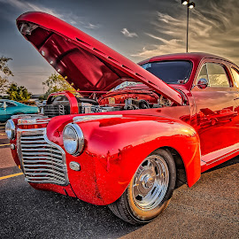 Red Coupe by Ron Meyers - Transportation Automobiles