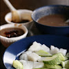 Ketupat and cucumbers