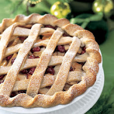 Apple and Dried-Cherry Lattice Pie