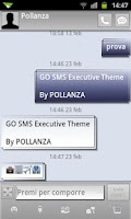 Screenshot of GO SMS Executive Theme