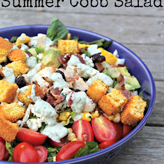 Summer Cobb Salad with Basil-Blue Cheese Dressing