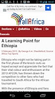 Screenshot of Ethiopia Newspaper & Video