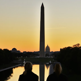 Sunrise In Washington DC by VAM Photography - Buildings & Architecture Statues & Monuments ( monuments., architecdture, washington dc, historical, sunrise,  )