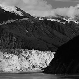 Glacier Bay, Alaska by Dan Dusek - Landscapes Travel ( glacier, mountains, black and white, seascape, landscape,  )