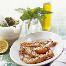 Grilled Prawns with Pistou