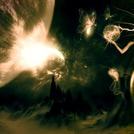 magic by Dietmar Kuhn - Digital Art People ( abstract, magic, woman, space, surreal, light )