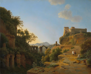 RIJKS: Josephus Augustus Knip: The Gulf of Naples with the Island of Ischia in the Distance 1818