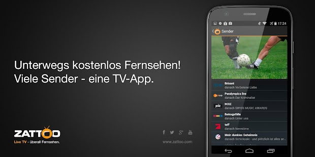 Screenshots  Zattoo Live TV