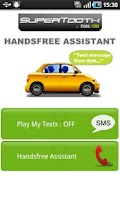 Screenshot of SuperTooth HandsFree Assistant