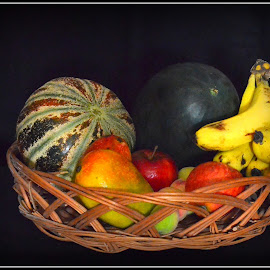Fruit Basket by Prasanta Das - Food & Drink Fruits & Vegetables ( fruits, assorted, basket )