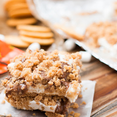 Ritz Peanut Butter Cup S'mores Bars