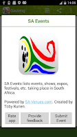 Screenshot of SA Events