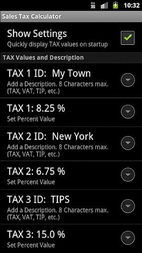 Sales Tax Discount Calculator - screenshot