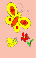 Screenshot of Insect Coloring Pages-Kid Game