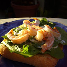 Prawn and Lime Mayonnaise Open Sandwich