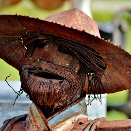 Rust Man by Erin Czech - Artistic Objects Other Objects ( person, scarecrow, beard, rust, hat )