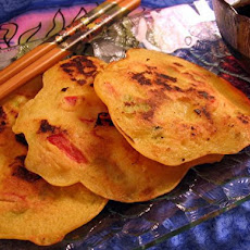 Korean Shrimp and Scallion Pancakes