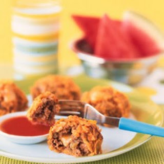 Taco Beef Nuggets with Tejano Dipping Sauce