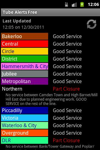 London Tube Alerts Free