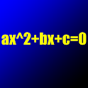Quadratic equation solver icon