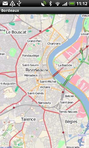 Bordeaux Street Map