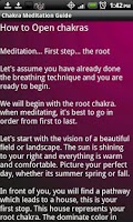 Screenshot of Chakra Meditation Guide