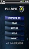 Screenshot of GuardX Antivirus