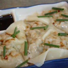 Pork Ravioli With Lime and Malt Vinegar Dipping Sauce