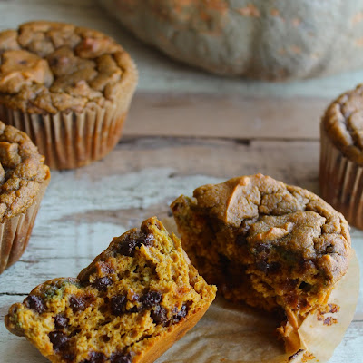 Grain-free, Nut-free Pumpkin Chocolate Chip Muffins