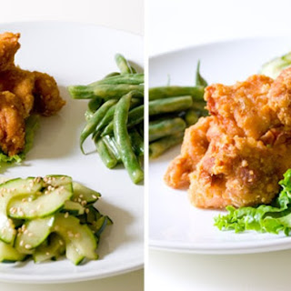 Japanese Fried Chicken and Two Simple Salads