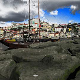 As cores do Porto. by Lia Ribeiro - Digital Art Places