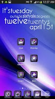 Screenshot of Theme Violet NOVA, APEX, ADW
