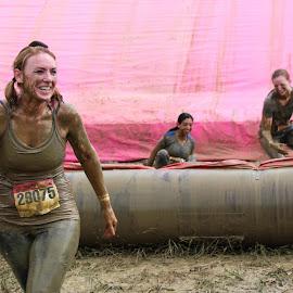 Three Dirty Girls by Lou Plummer - Sports & Fitness Running ( event, pink, dirty girl, race, running )