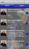 Screenshot of Official Alan Jackson App
