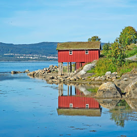 by Bente Agerup - Buildings & Architecture Other Exteriors ( houses, red, nature, green, reflections )