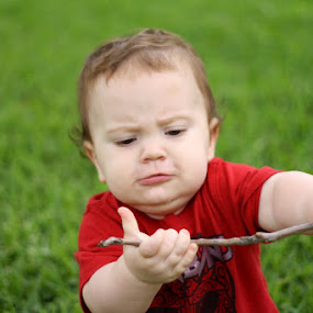 My stick! by Judy B - Babies & Children Children Candids