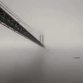 Misty bridge by Hugo Só - Buildings & Architecture Bridges & Suspended Structures ( hugo só, d7100, lisbon, portugal, nikon )
