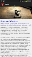 Screenshot of Seguridad wireless