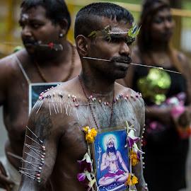 Tai Pussam by Bert De Wilde - People Body Art/Tattoos ( sacrifice, hindu, body, ritual, indian, celebration, festivity )