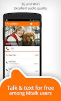 Screenshot of Mtalk: landline in your pocket