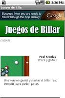 Screenshot of Juegos de Billar