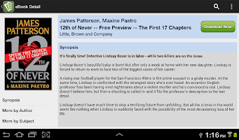 Screenshot of Inktera eBook Store