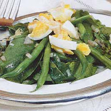 Arugula and Green Bean Salad with Walnut Oil Dressing