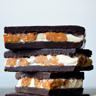 Peanut Butter Brownie Ice Cream Sandwiches